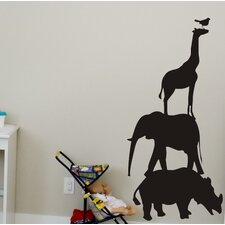 Chalkboard Animals Wall Decal