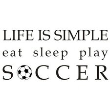 Life is Simple-Soccer Wall Decal
