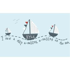Personalized Sail Away Wall Decal