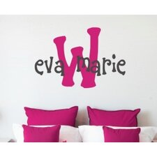 Eva's Monogram Wall Decal