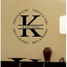 Karlsson Monogram Wall Decal