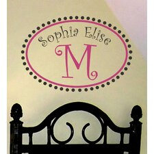 Whimsical Monogram Wall Decal