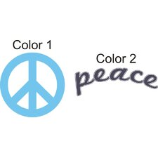 <strong>Alphabet Garden Designs</strong> Peace Sign Wall Decal