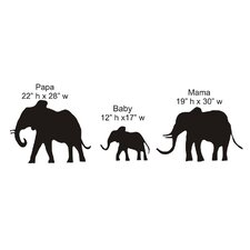 <strong>Alphabet Garden Designs</strong> Elephant Family Chalkboard Wall Decal