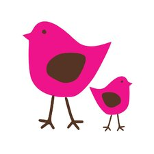 Cutie Birds Vinyl Wall Decal (Set of 2)