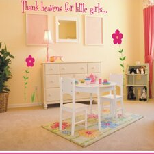 <strong>Alphabet Garden Designs</strong> Thank Heavens For Little Girls / Boys Wall Decal