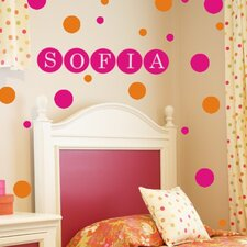 <strong>Alphabet Garden Designs</strong> Personalized Dots Wall Decal