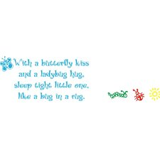 <strong>Alphabet Garden Designs</strong> Butterfly Kiss Wall Decal