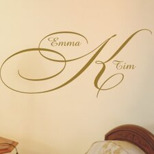 <strong>Alphabet Garden Designs</strong> Elegant Monogram Wall Decal