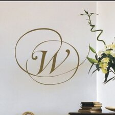 <strong>Alphabet Garden Designs</strong> Script Monogram Wall Decal