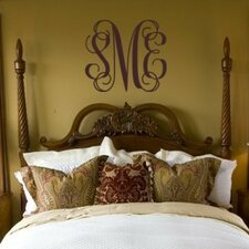 Personalized Fancy Interlock Monogram Wall Decal