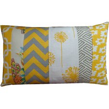 Zebra Pieces Daisy Pillow