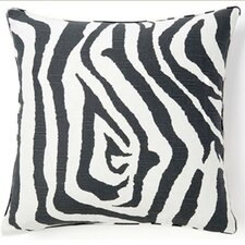 African Zebra Square Cotton Pillow
