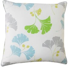 Gingko Square Cotton Pillow