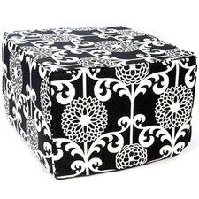 Floret Cotton Cube Ottoman