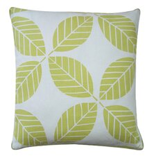 Tiki Leaves Linen Pillow