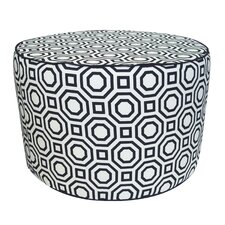 Labyrinth Pouf Cotton Ottoman