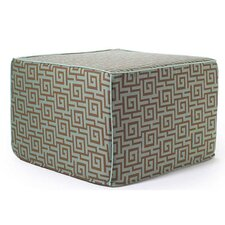 Puzzle Outdoor Ottoman in Grey
