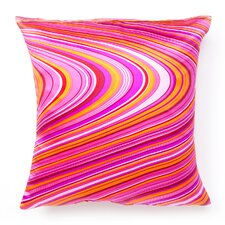 Psychedelic Square Silk Decorative Pillow