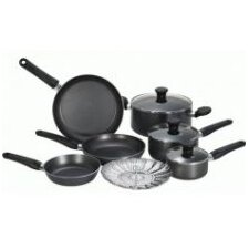 <strong>T-fal</strong> Initiatives Aluminum 10-Piece Cookware Set