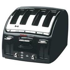 Avante 4 Slice Toaster in Black