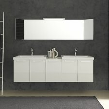 "Essenze 69"" Double Ceramic Sink Vanity Set"