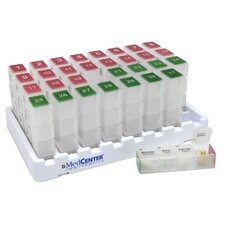 Low Profile MedCenter 31 Day Medication Pill Organizer