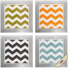 <strong>Propac Images</strong> 4 Piece Chevron Wall Art Set