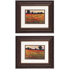 <strong>Propac Images</strong> 2 Piece Red Field Wall Art Set