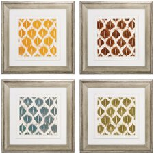 Ikats 4 Piece Framed Graphic Art Set