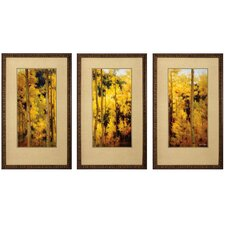 Autumn 3 Piece Framed Painting Print Set