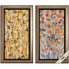 Mandarins 2 Piece Framed Graphic Art Set
