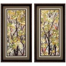 Texture Summer 2 Piece Framed Painting Print Set