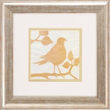 Tea Bird 2 Piece Framed Graphic Art Set
