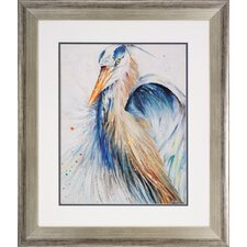 Heron 2 Piece Framed Painting Print Set