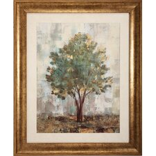 Verdi Trees 2 Piece Framed Painting Print Set