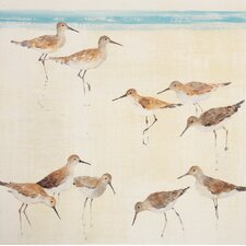 Sand Pipers Framed Painting Print