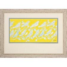 Speckle Birds 2 Piece Framed Wall Art Set
