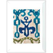 Teal Ikat 2 Piece Framed Wall Art Set