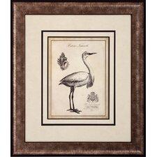 Egret Stork 2 Piece Framed Wall Art Set