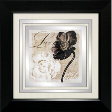 Lux / Flores 2 Piece Framed Graphic Art Set (Set of 2)
