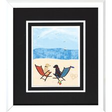 Beach Dogs I/II Wall Art (Set of 2)