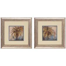 Palm I/II 2 Piece Framed Painting Print (Set of 2)