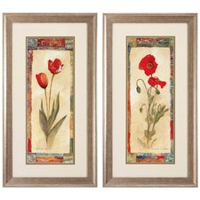 Tulip / Poppy Wall Art (Set of 2)