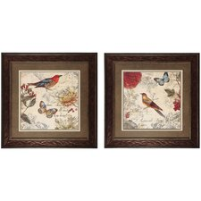 Natures I/II 2 Piece Framed Painting Print (Set of 2)