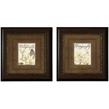 Dragonfly I / II Framed Art (Set of 2)