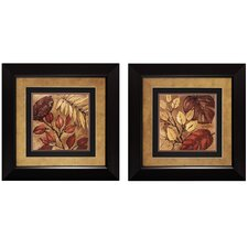 Indian Summer I and II 2 Piece Framed Painting Print Set (Set of 2)