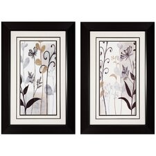 Zephyr I and II 2 Piece Framed Painting Print Set (Set of 2)