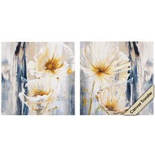<strong>Propac Images</strong> White Florals I / II Wall Art (Set of 2)