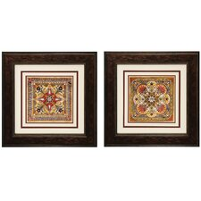 "Italian Tile I and II Print Set - 23"" x 23"" (Set of 2)"